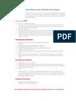 Requisitos Basicos Doacao de Sangue