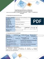 Guía de Actividades y Rubrica de Evaluación - Fase 3 - Estudio de Tiempos