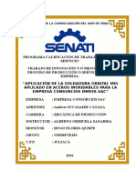 Aplicación de La Soldadura Orbital Mig Aplicado en Aceros Inoxidables Para La Empresa Consorcios Mmefa Sac