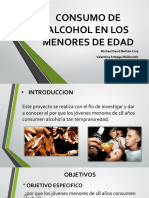 Consumo de Alcohol en Los Menores de Edad