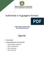 PROPRIEDADES LINGUAGENS REGULARES