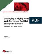 Deploying HA Web Server RHEL