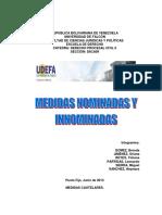 Medidas Nominadas y Innominadas