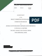 Senate Intel report on Russian election interference (volume 2)