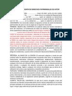 Contrato de Cesion de Derechos Patrimoniales - Productor Contratado
