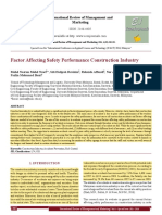 Factor Affecting Safety Performance Construction Industry[#355781]-367497