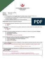 Examen Parcial Costos y Presupuestos 2019 00 Solución