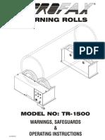 Tr1500 2 Manual