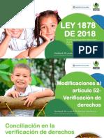 Ley 1878 de 2018 (Reforma a La Ley 1098 de 2006)