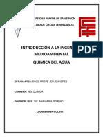 Cuestionario Quimica Del Agua