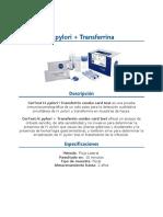 Helicobacter pylori + transferrina