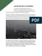 Contaminación Del Aire en Colombia