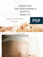 Lecture 1A Genetics Conception Fall 2015 Student's