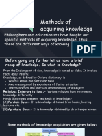 Methods of aquiring knowledge