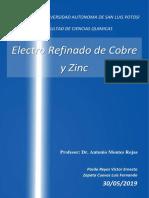 electrorefinado ZN y Cu