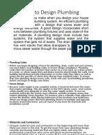How to Design Plumbing