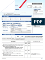 Health Statement Form for Post Issuance