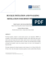 Buckle Initiation Walking and Mitigation for HP_HT Pipelines