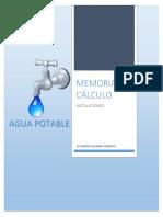 Memoria de Calculo Agua Potable