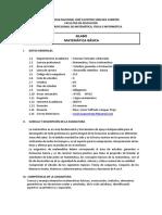 Sílabo Matemática Básica MFeI