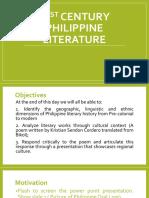 21st Century Philippine Literature