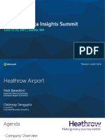 Heathrow Airports Presentation at the Microsoft Data Insights Summit