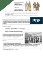 Ficha de estudio, Roma república