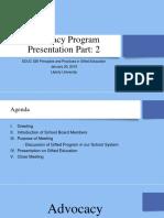 Advocacy Program Presentation Part 2