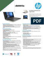 Mi Laptop HP 15-DB0005LA Caracteristicas