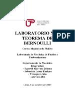 Lab N°2 Teorema de Bernoulli - Mecánica de Fluidos