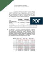 Taller Finanzas Corporatiivas Aplicadas (Alternativas de Inversion y Rendimiento-riesgo)
