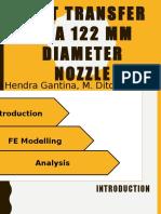 Heat Transfer in a 122 Mm Diameter Nozzle