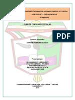 Plan de Clases Preescolar