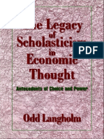 Odd Langholm - The Legacy of Scholasticism in Economic Thought_ Antecedents of Choice and Power (Historical Perspectives on Modern Economics) (1998)