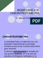 Biomecanica y Cineantropometria
