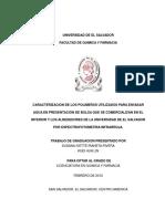 Caracterizacion de Los Polimeros Utilizados Para Envasar Agua en Presentacion de Bolsa Que Se Com