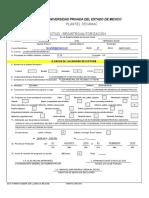 UPEM Formato de Registro Servicio Social