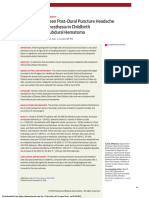 Association Between Post–Dural Puncture Headache