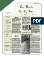 Newsletter Volume 10 Issue 35