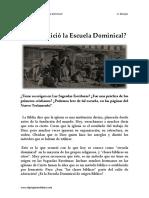 Cómo Inició La Escuela Dominical