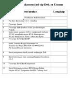 Persyaratan rekomendasi sip Dokter Umum.pdf