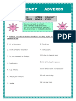 Frequency Adverbs Fun Activities Games 4912