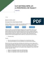 Buangkuman Keterampilan Berbahasa Indonesia Sd Modul