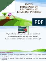 UNIT v Education