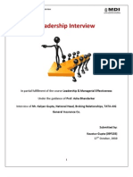 Leadership Interview Assignment_09P203_Kaustuv Gupta