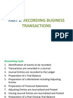 Recording Transaction