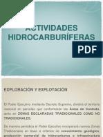 ACTIVIDADES HIDROCARBURIFERAS