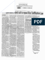Philippine Star, Oct. 9, 2019, Lawmakers reject call to repeal Rice Tariffication Law.pdf