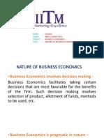 Nature of BUSINESS ECONOMICS
