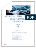 Artificial Intelligence in Automobile Industry